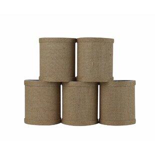 4 Natural Burlap Drum Candelabra Shade (Set of 5)