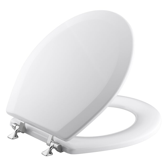 Awesome Triko Round Front Toilet Seat With Polished Chrome Hinges Gmtry Best Dining Table And Chair Ideas Images Gmtryco