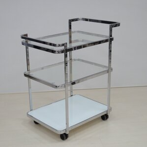 Ferrara Kitchen Cart with Glass Top by Casabianca Furniture