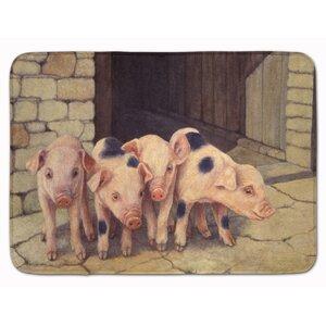 Jonah Pigs Piglets by Daphne Baxter Memory Foam Bath Rug