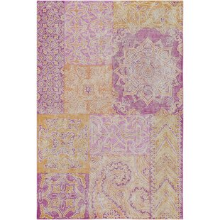 Comparison Knowland Hand-Tufted Bright Pink/Peach Area Rug By Bungalow Rose
