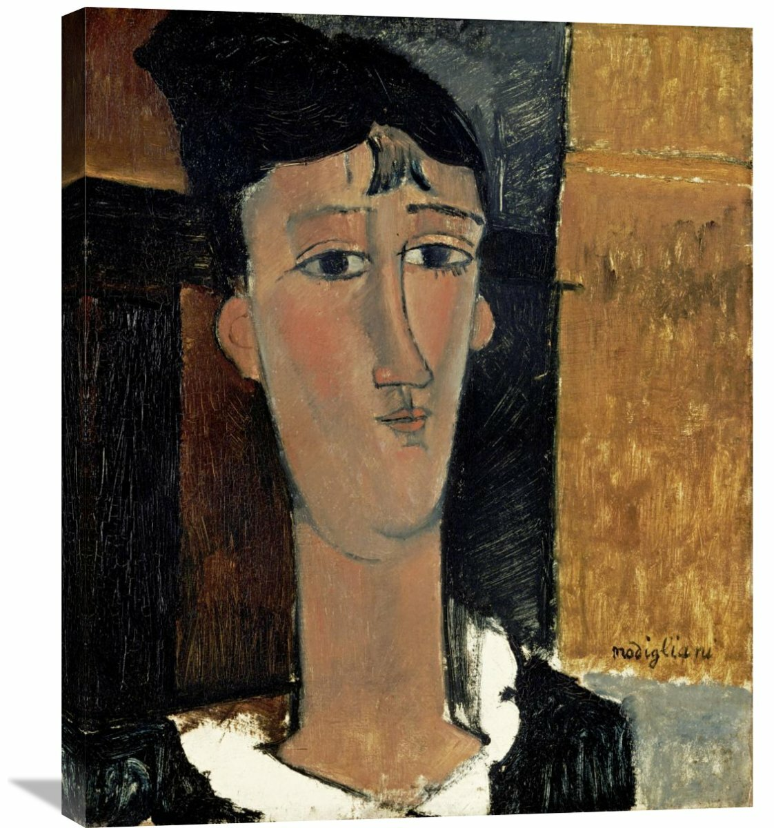 540147e6900 Global Gallery  Portrait of a Young Woman (La Concierge)  by Amedeo  Modigliani Painting Print on Wrapped Canvas