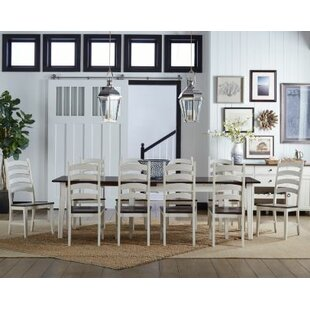 Tamiami 11 Piece Extendable Solid Wood Dining Set by Beachcrest Home New