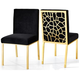 Hop Upholstered Dining Chair (Set of 2) Everly Quinn