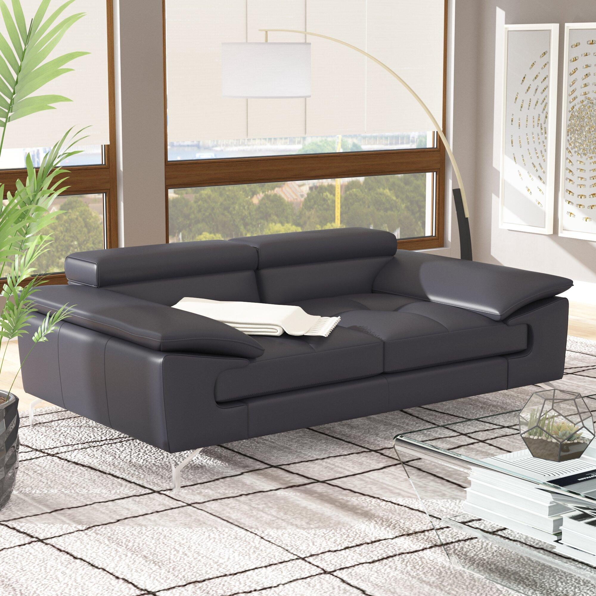 Colwyn Italian Leather Modular Loveseat