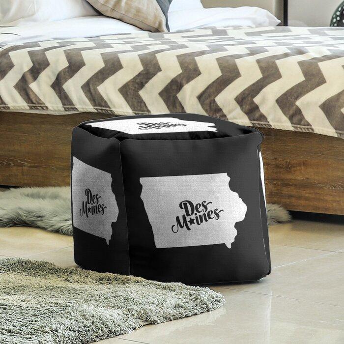 Des Moines Iowa Cube Ottoman