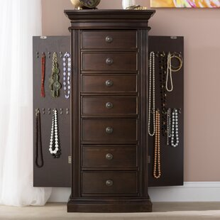 Charmant Aitkin Jewellery Armoire With Mirror