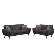 Wooten 2 Piece Sofa And Loveseat Set