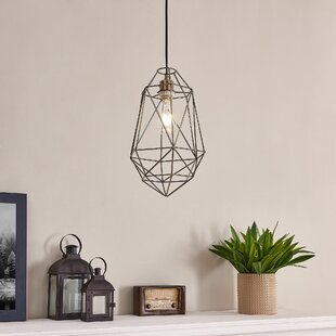 Oswald 1-Light Geometric Pendant by 17 Stories