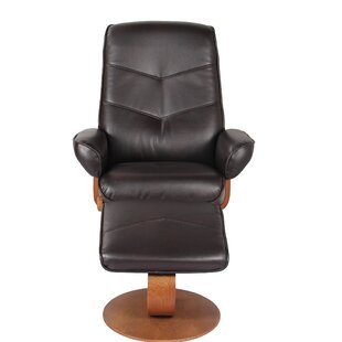 Sascha Recliner Manual Recliner with Ottoman by Latitude Run