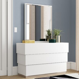 Langridge 3 Drawer Dresser with Mirror by Wade Logan
