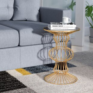 Haymarket Iron Wire End Table by Wade Logan