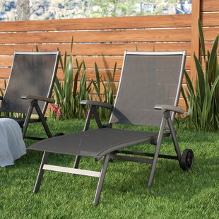 Latitude Run Denney Pool Patio Adjustable Chaise Lounge