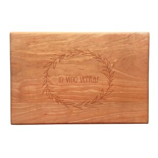 Wood In Vino Veritas Artisan Cutting Board
