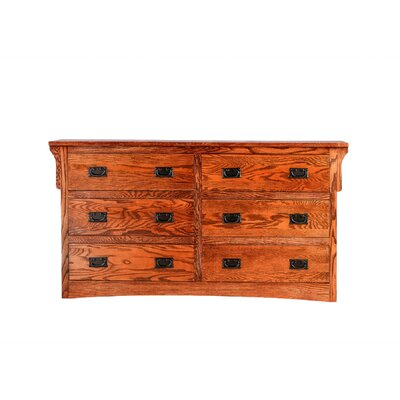 Aske 6 Drawer Double Dresser Millwood Pines Color: Black Adler