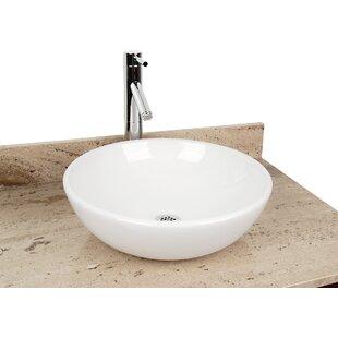 Purchase Ceramic Circular Vessel Bathroom Sink ByD'Vontz