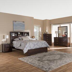 wooden bedroom sets. Millbrook Queen Platform 6 Piece Bedroom Set Solid Wood Furniture  Wayfair