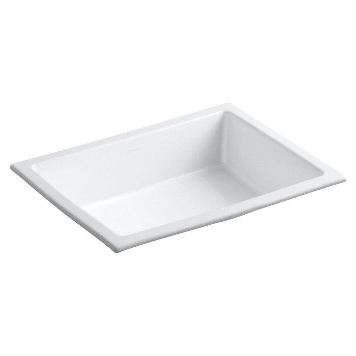 K 2882 0 7 95 Kohler Verticyl Ceramic Rectangular Undermount Bathroom Sink With Overflow Reviews Wayfair