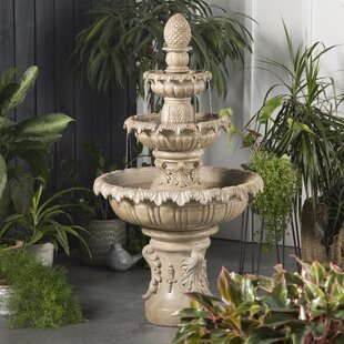 Danelle Resin Outdoor Fountain With Light