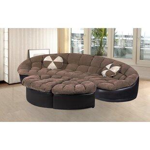 Chantilly 4 Piece Living Room Set by Orren Ellis