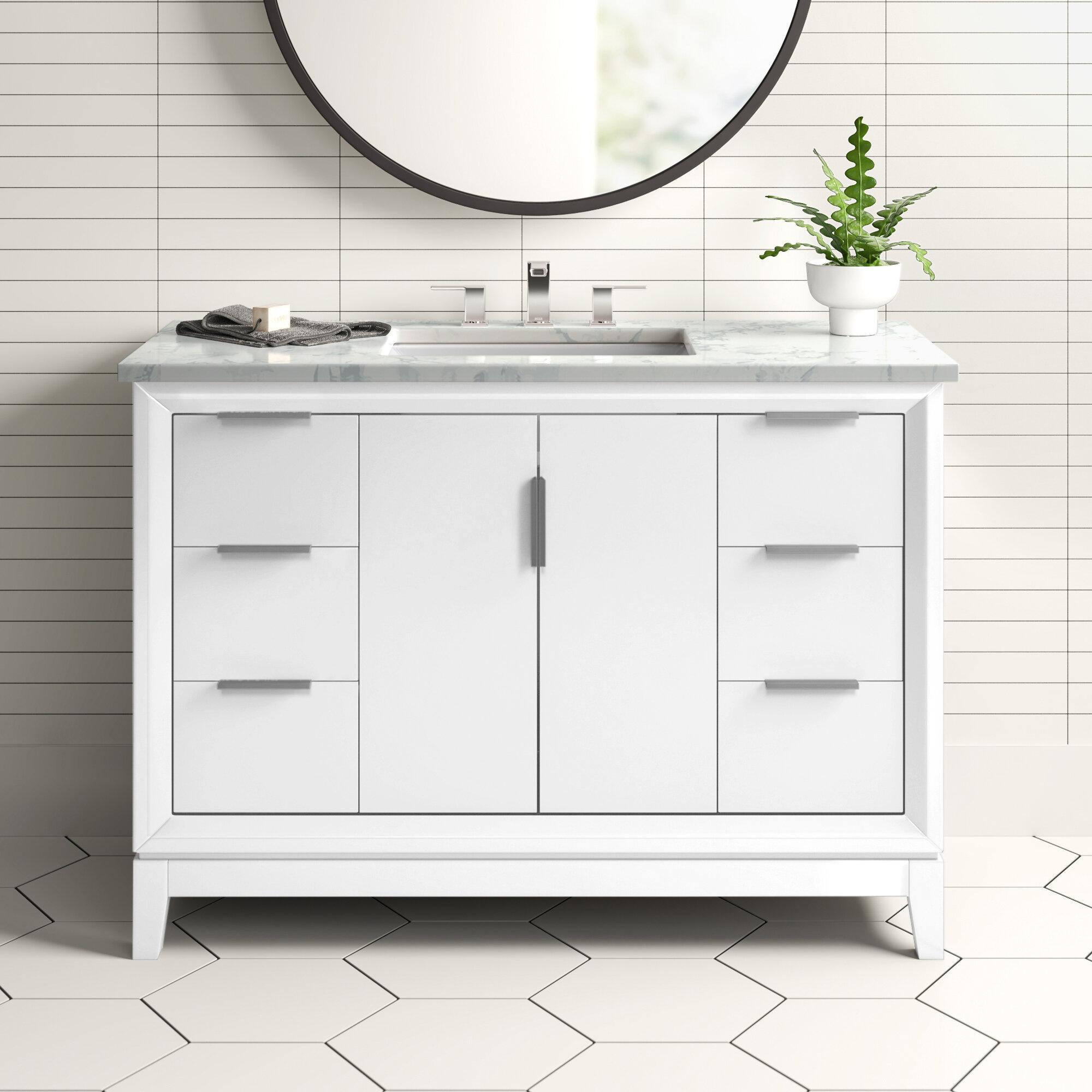 Evita 48 Single Bathroom Vanity Set Reviews Allmodern