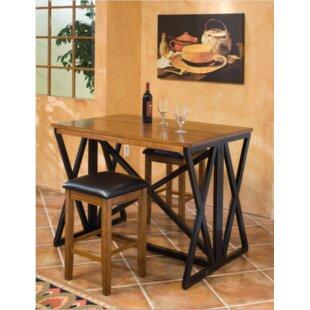 Tesch 3 Piece Pub Table Set by Union Rustic
