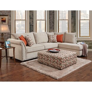 Trejos 133 Right Hand Facing Corner Sectional with Ottoman by Red Barrel Studio