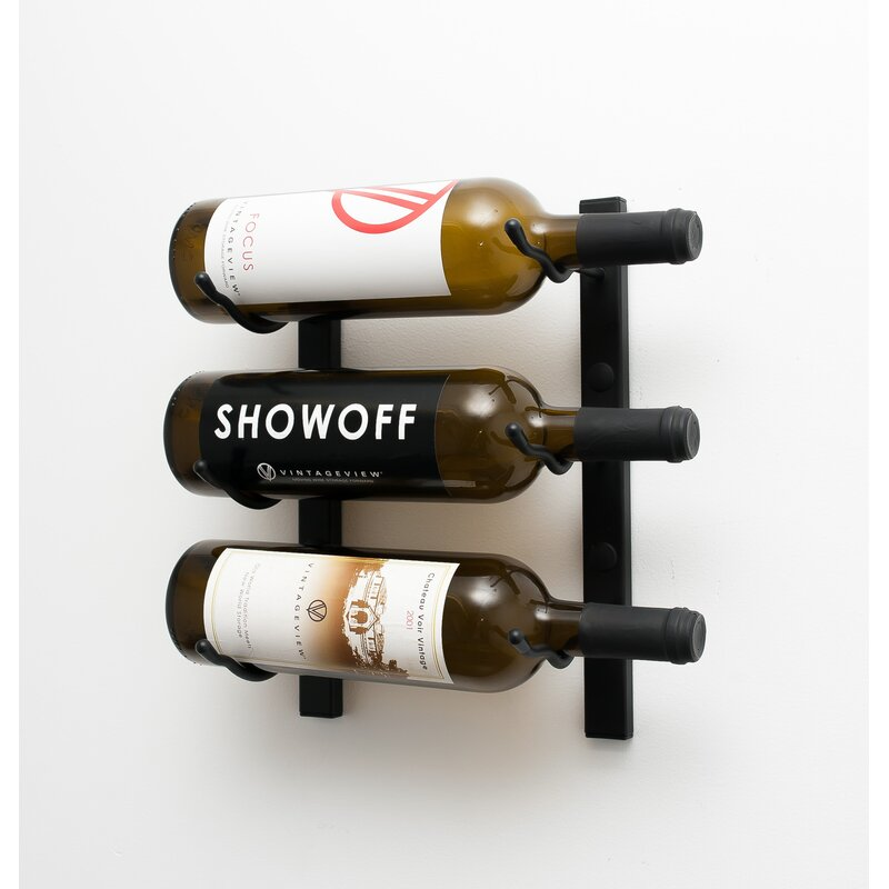 Vintageview 3 Bottle Metal Wall Mounted Wine Rack Reviews Wayfair