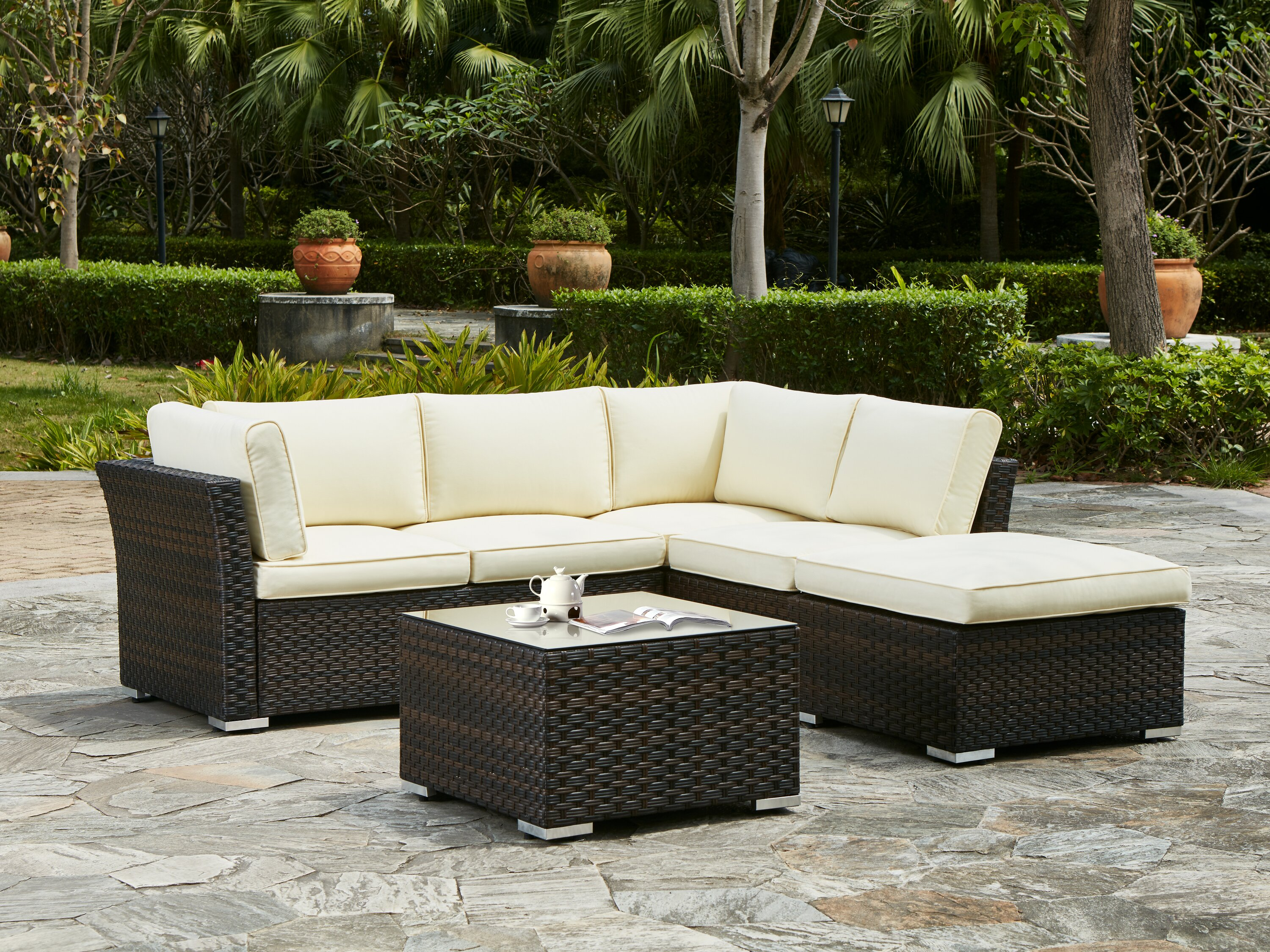 outdoor product meridianclassicallweatherwickersectional set cushions inuse sectional round cfm furniture meridian sunbrella living patio with belham hayneedle wicker