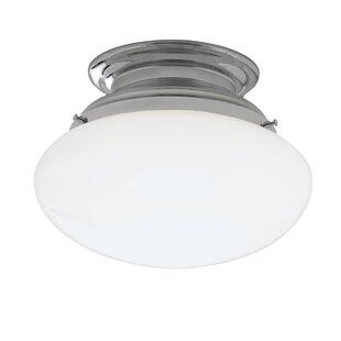 Klein 1-Light Semi Flush Mount by Ebern Designs