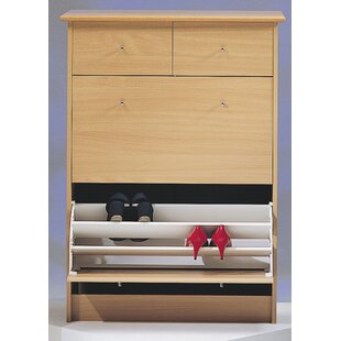 Wildon Home ® Nightline 18-Pair Shoe Storage Cabinet