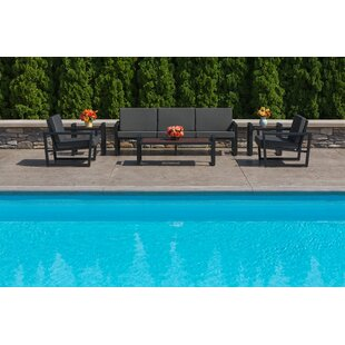 Vero 6 Piece Sunbrella Sofa Set with Cushions