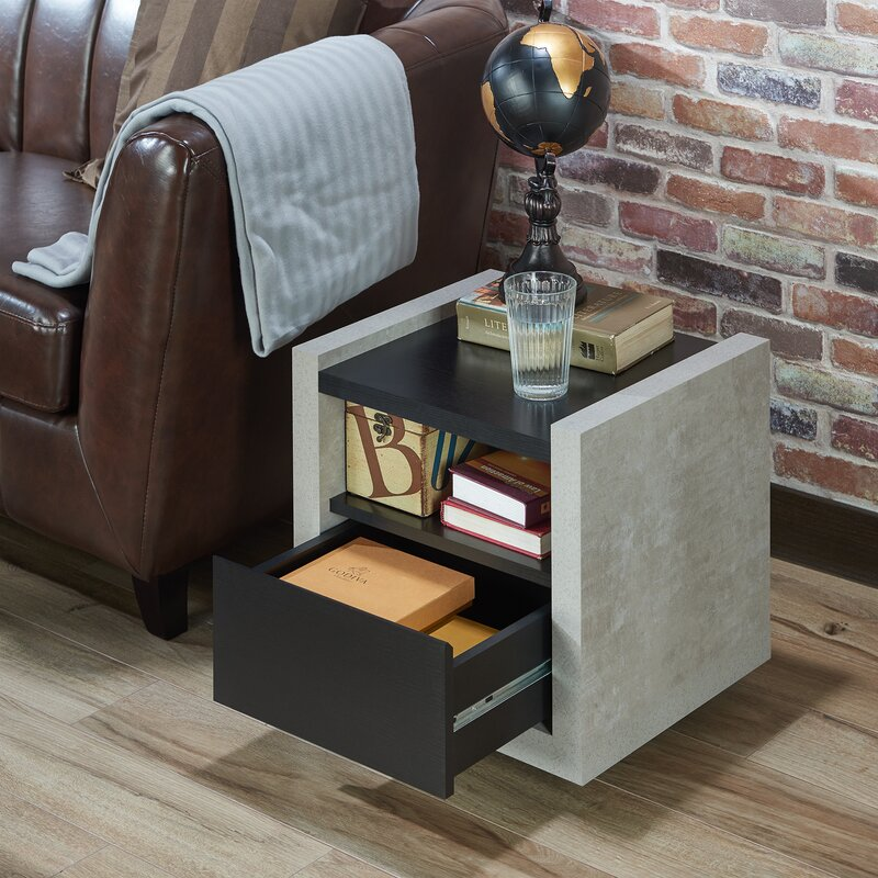 17 Stories Evony Contemporary End Table & Reviews | Wayfair