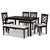 Commercial Use Dining Table With Chair And Bench Kitchen Dining Room Sets You Ll Love In 2021 Wayfair