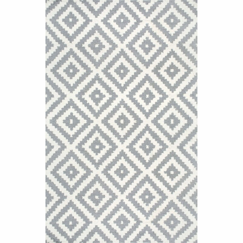 Obadiah Handwoven Wool Gray/Ivory Area Rug