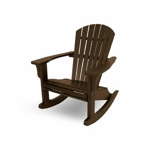 Seashell Plastic Rocking Adirondack Chair By POLYWOOD®