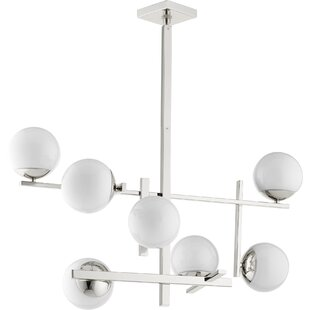 Compare prices Atom 7-Light Shaded Chandelier By Quorum
