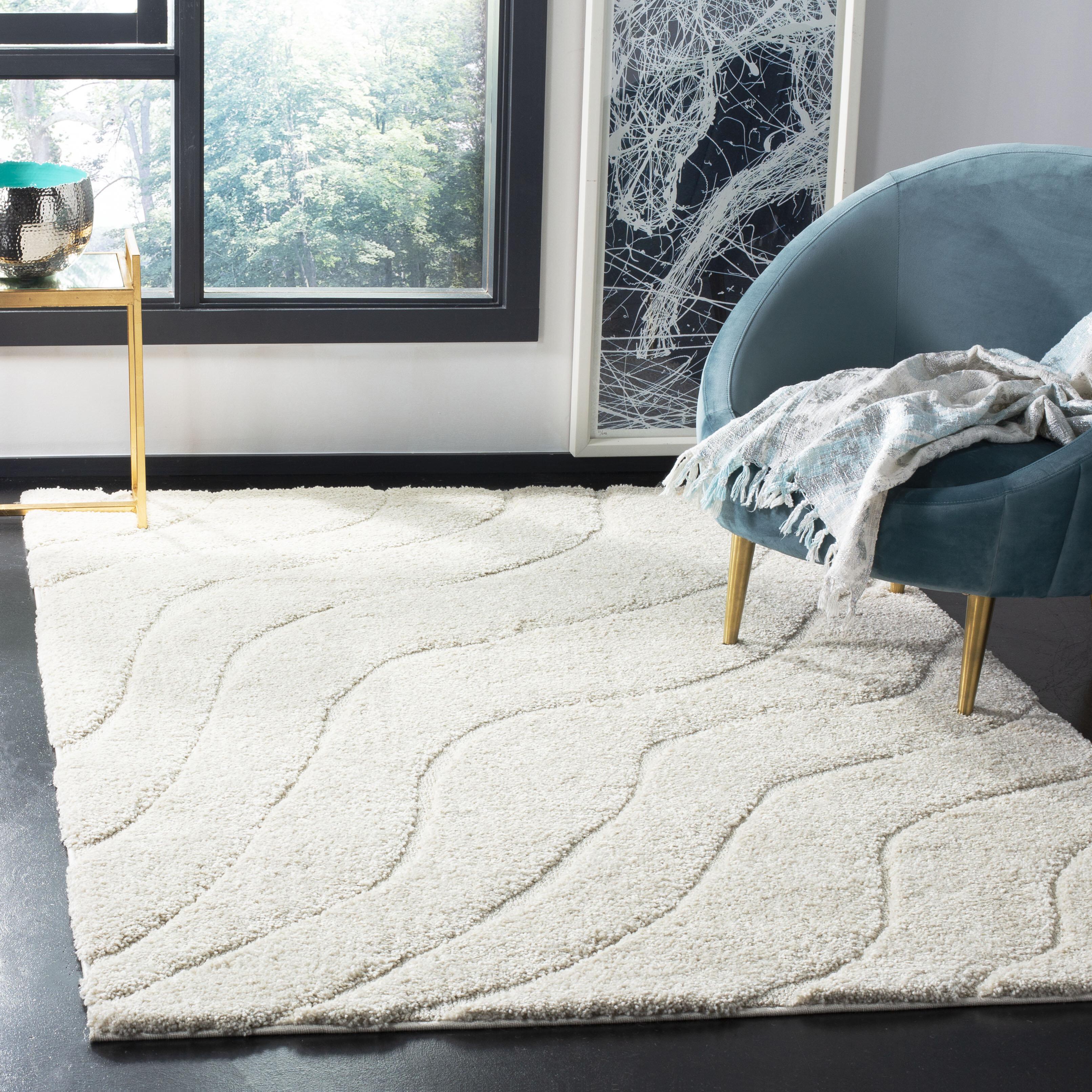 Ebern Designs Stacie Abstract Cream Area Rug Reviews Wayfair