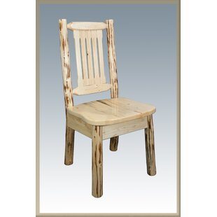 Abordale Slat Back Solid Wood Dining Chair Loon Peak