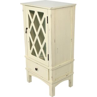 Heather Ann Creations Wooden Accent Cabinet with Mirror Insert