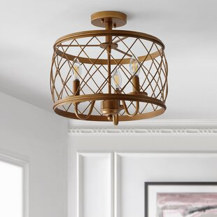 Breakwater Bay Sepulveda 3-Light Semi Flush Mount
