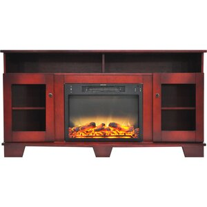 Ackermanville Modern Electric Fireplace TV Stand