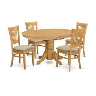 Darby Home Co Attamore 5 Piece Extendable Dining Set