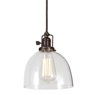 Check Prices Edgar 1-Light Dome Pendant By Gracie Oaks