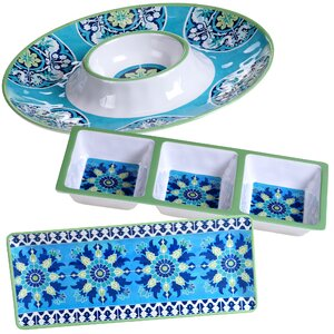 Granada 3 Piece Heavy Weight Melamine Hostess Set