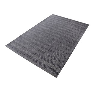 Saket Hand-Woven Charcoal Area Rug by Gracie Oaks