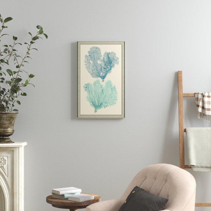 \'Azure Coral\' Framed Print I
