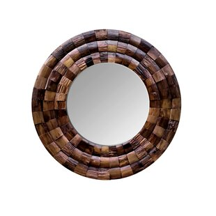 Varaluz Wine Country Reclaimed Wood Circular Accent Mirror