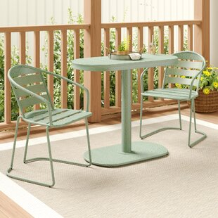 Alegre Outdoor Crackle 3 Piece Bistro Set by Turn on the Brights