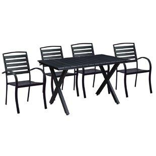 Gallardo Modern Contemporary 5 Piece Dining Set
